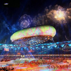 Olympics Opening Ceremony UFO, Even Aliens Like A Good Show….