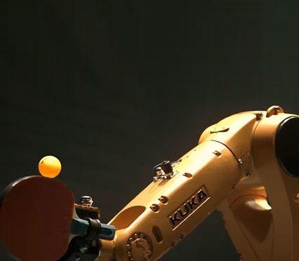 Man versus Machine, Timo Boll versus the Table Tennis Robot…