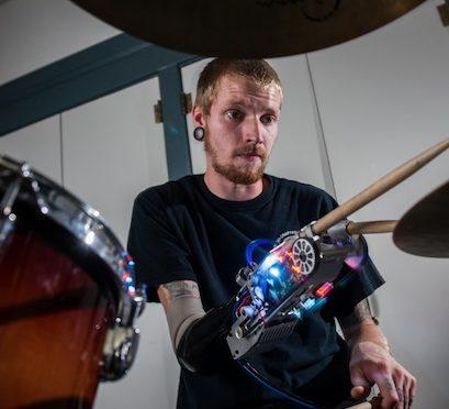 Robotic Prosthetics turns Man into Cyborg Drumming Machine…