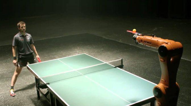 Man versus Machine, the Table Tennis Robot with a Digital Advantage…