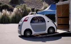 Google A First Drive, no steering wheel or pedals makes every seat the passenger's seat…
