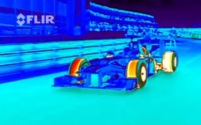Red Bull Racings F1 Car Filmed in FLIR Infrared…