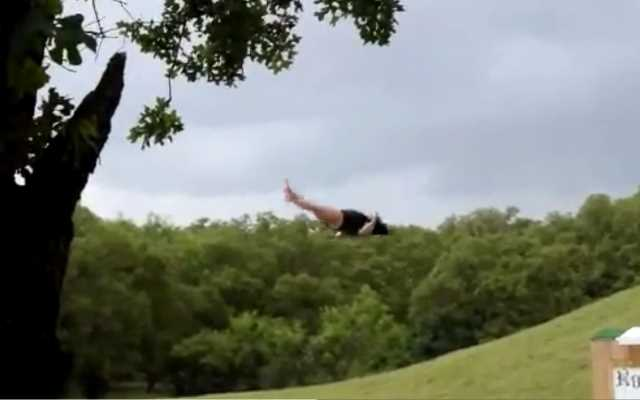 There Is One Flop better than a Belly Flop, the Ultimate Back Flop…