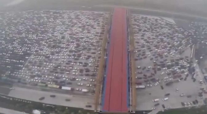China has the Most Insane Traffic Jams in the World.