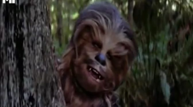 If Chewbacca Was Voiced By Peter Griffin.