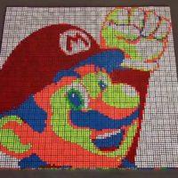 Super Mario Bros Animated with Rubik's Cubes, Flashback Warning…