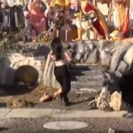 NSFW: FEMEN Try to Steal Baby Jesus, Again…