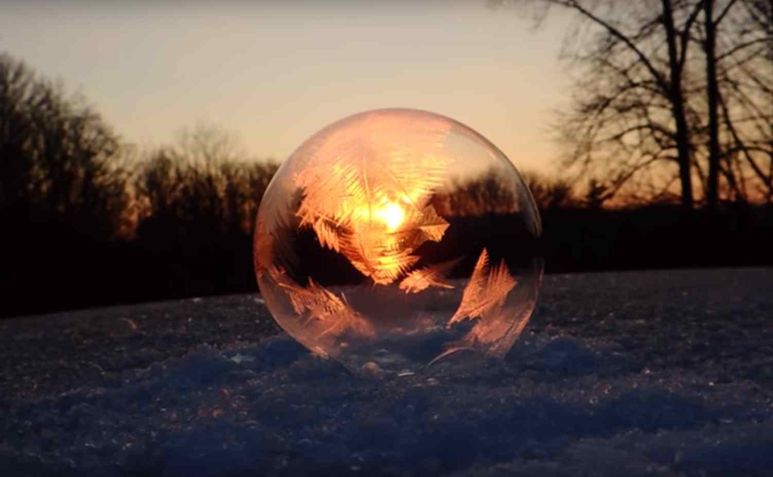 Watching Soap Bubbles Freeze, Fascinating…