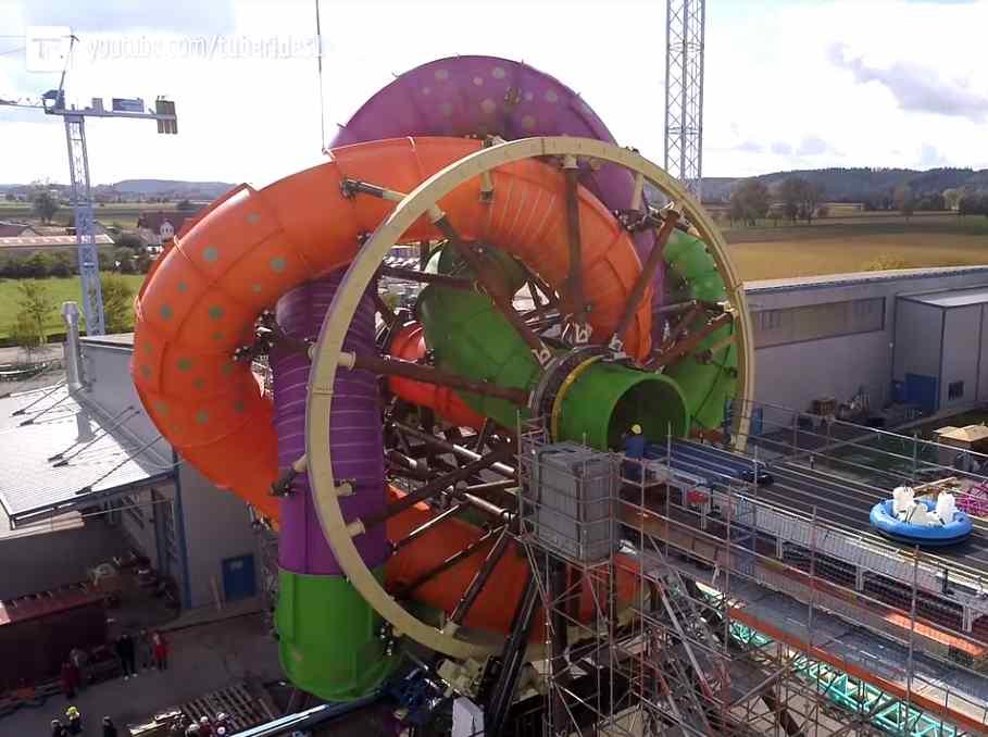 The Slidewheel Rotating Water Slide…
