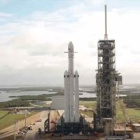 SpaceX Falcon Heavy Drone Fly By…